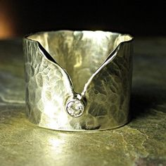 Artisan Diamond Ring in Sterling Silver - Ice Whisper   Also available in other stones, price varies according to type and size of stone.  Ask about your favorite stone!     ....from Lavender Cottage Jewelry