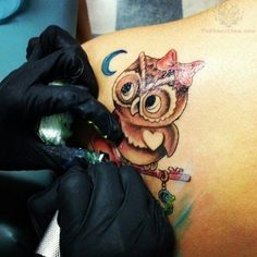 owl tattoos, this is adorable