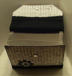 Fächemappe / Sammelmappe für Postkarten Innenansicht Decorative Boxes, Container, Food, Boxes, Crate, Weather, Postcards, Crafting, Essen