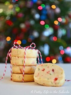 These Brown Sugar Shortbread are a delicious Christmas cookie! Bake half the batch now, and bake the other half later!
