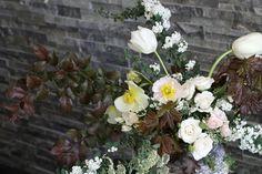 Poppies, spirea, roses, tulips. By Sarah Winward.