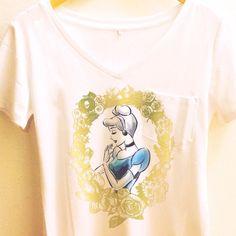 Cinderella Gold Floral Shirt   Disney Princess Cameo