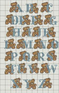 imagens para ponto cruz ursinhos - Pesquisa Google