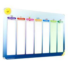 Planbord blauwe ster is een magnetisch planbord voor kinderen. Het bord geeft een weekoverzicht en werkt met leuke magneet pictogrammen. Bestel hier!
