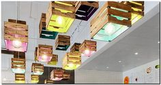 fruit crates lighting idea