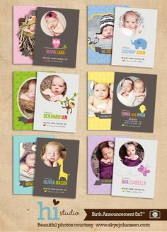 love these...really need to revamp birth announcements