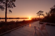 Wild Heron sunset at the boardwalk  Betsy Hulsey, Realtor Beachy Beach Real Estate
