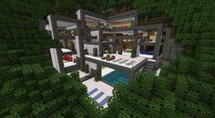 minecraft modern house interior - Google Search