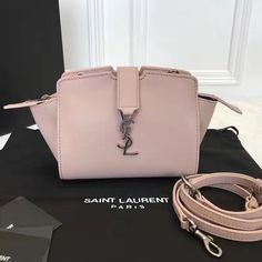 42d156078e65 Authentic Quality 1 1 Mirror Replica Toy YSL CABAS Bag Antique Rose Leather
