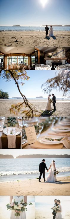 Table Setting & Bouquet (Middle Beach, Tofino)