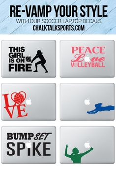 Ok, these laptop decals are awesome!! Such a great way to showcase my volleyball pride.