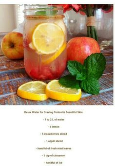 9 Summer Detox Water Recipes You'll Love Clear skin detox - Modern Detox Juice Recipes, Water Recipes, Detox Drinks, Healthy Drinks, Healthy Recipes, Healthy Water, Detox Foods, Diet Detox, Healthy Juices