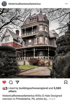 Stone Cold Stunner, Historical Architecture, Looking Up, Victorian, Mansions, House Styles, Instagram, Homes, Houses