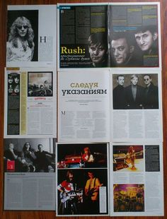 RUSH - Neil Peart, Alex Lifeson, Geddy Lee, Articles Clippings Magazine | eBay