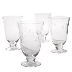 Princess Heritage Footed Glasses...set of 4....$54.95 retail.... click on picture for more details....WE SHIP ANYWHERE IN U.S.