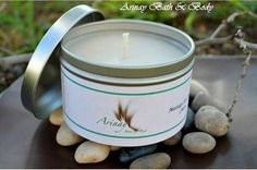Soy Candle Massage Set of 3 4 oz. by arinaysoaps on Etsy
