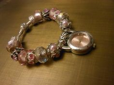 Pink Handcrafted European Watch Bracelet