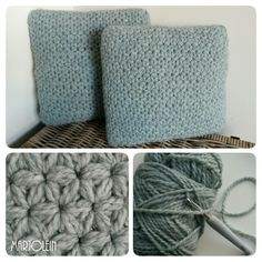 Gehaakt kussen #jasmijnsteek #jasminestitch #haken #crochet #handmade…