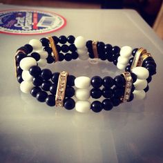 Black and White bracelet by Winterof45 on Etsy, $10.00