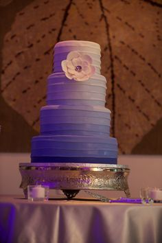 Ombre purple wedding cake