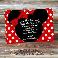 DIY Printable Minnie Mouse Birthday Invitation by DesignsByDMS, $10.95