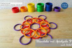 Spielgaben-Mandala-Vorlage mit den Ringen der Spielgabe 9 nach Friedrich Fröbel (Fröbel-Material, Fröbelspielzeug) Spielgaben:  http://www.friedrich-froebel-online.de/s-p-i-e-l-g-a-b-e-n/ Spielgaben kaufen:  http://www.friedrich-froebel-online.de/shop/