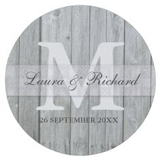 Gray Wood Bride And Groom Wedding Monogram Round Paper Coaster - chic design idea diy elegant beautiful stylish modern exclusive trendy Bride And Groom Glasses, Wedding Gifts For Bride And Groom, Wedding Gifts For Groom, Perfect Wedding Gifts, Monogram Coasters, Monogram Signs, Monogram Wedding, Thoughtful Wedding Gifts, Rustic Gifts