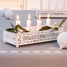 Kerzentablett / candle tray #impressionen #christmas #weihnachten