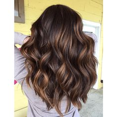 There's something so sensual about silky, rich chocolate tresses. Add in gorgeous caramel highlights and you have a formula your clients will adore! Rich Brown Hair, Brown Hair Shades, Brown Ombre Hair, Brown Hair Balayage, Ombre Hair Color, Cool Hair Color, Brown Hair Colors, Rich Hair Color, Brunette Color