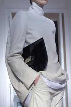 Alexander McQueen  fall 2012, cream, off white, turtleneck, sweater, long sleeves, casual chic