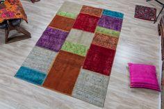 Vintage Patchwork Rug 3.94x5.90 ft ( 120 cm x 180 cm) by KilimArtShop on Etsy