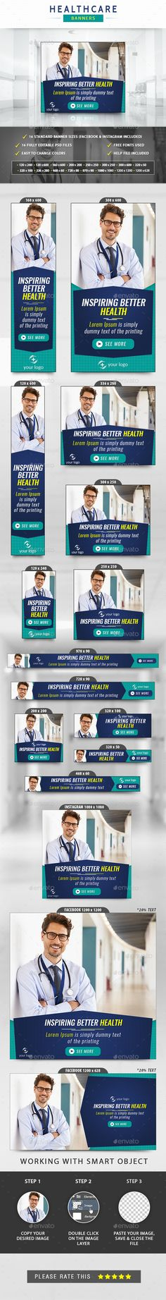 Medical & Health Care Banner - Neue Ideen - New Ideas Private Krankenversicherung, Medical Health Care, Website Promotion, Online Campaign, Promote Your Business, Banner Template, Goods And Services, Facebook Instagram, Social Networks