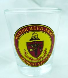 Walter Reed Army Medical Center shotglass Washington D.C. CLOSED DOWN