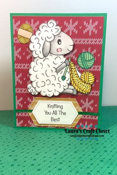 This Sheep Knitter is starting early and making a Christmas Sweater! Check out the details for this Sheep Knitter Christmas Sweater Card and begin prepping now! Sewing Projects, Diy Projects, Cute Sheep, Christmas Challenge, Digital Stamps, Winter Holidays, Twinkle Twinkle, Christmas Sweaters, Prepping