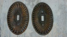 Vintage 60s-70s Metal Light Switch plates Home by SycamoreVintage