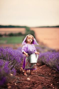 Photo of girl in lavender field, by Nataly Abramova.  See more of her work at http://instagram.com/natalyabramova/