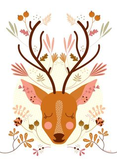 i would love to decorate arys room around cute little artsy woodland animals like this