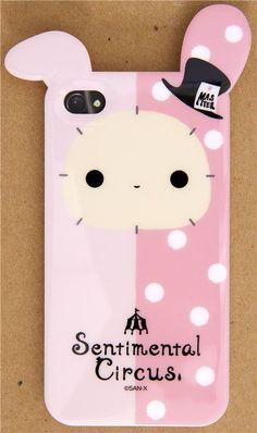 Sentimental Circus bunny iPhone 4S /4 silicone case @Kawaii Shop modes4u.com