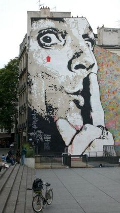 Jef Aérosol : Chut. Street art in Paris.