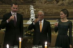 King Felipe and Queen Letizia Visit Portugal – Day 2 - Dinner hosted by the Portuguese Prime Minister, António Costa, in The Necessidades Palace