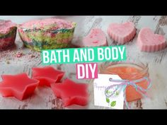 DIY - Scrub, Bomba do kúpeľa, Bath melt a Shower jellies - YouTube