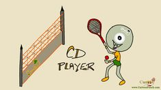 CD Player: When a CD turned badminton player...  Humans play #CD in #CDplayer and have fun by listening to its #music. Have you ever thought how #CDs have fun after getting tired of their spinning job?   #cartoon #cartoonpunch #badminton #BadmintonCartoon #CDCartoon #cartoons #BadmintonCourt #BadmintonGround #Game #sports #ball #SportCartoon #entertainment #FunCartoon #FunnyCartoon #CartoonImages #Sportsman
