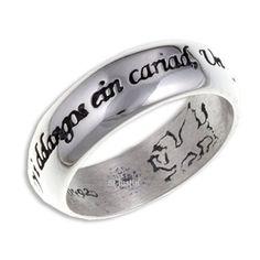 Welsh Love Ring / Modrwy Cariad - Sterling Silver (SR923)