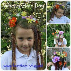 Food, Family, Fun.: Wacky Hair Day!