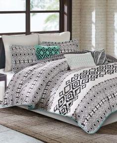 Echo Kalea California King Comforter Set - Black
