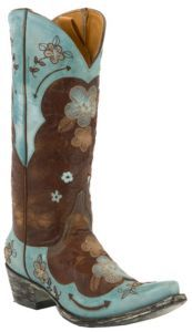 Old Gringo Ladies Bonnie Brown w/Turquoise Embroidered Flowers Snip Toe Cowboy Boots $519.99