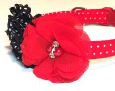 Bayberry Dog Collar Red Dog Collar Vanilla Dog Collar by Puptique