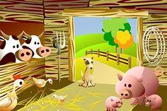 Había una vez un hombre que vivía en una granja. Todos los días se levantaba muy temprano (Bostezar como sí nos estuviéramos levantando). Siempre lo hacía cuando cantaba su gallo Kiriko (kíkiríki, ...