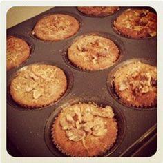 Apfel Bananen Haferflocken Muffins