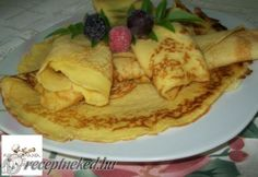 Érdekel a receptje? Kattints a képre! My Recipes, Cake Recipes, Ital Food, Hungarian Recipes, Hungarian Food, Mille Crepe, Crepes, Pancakes, French Toast